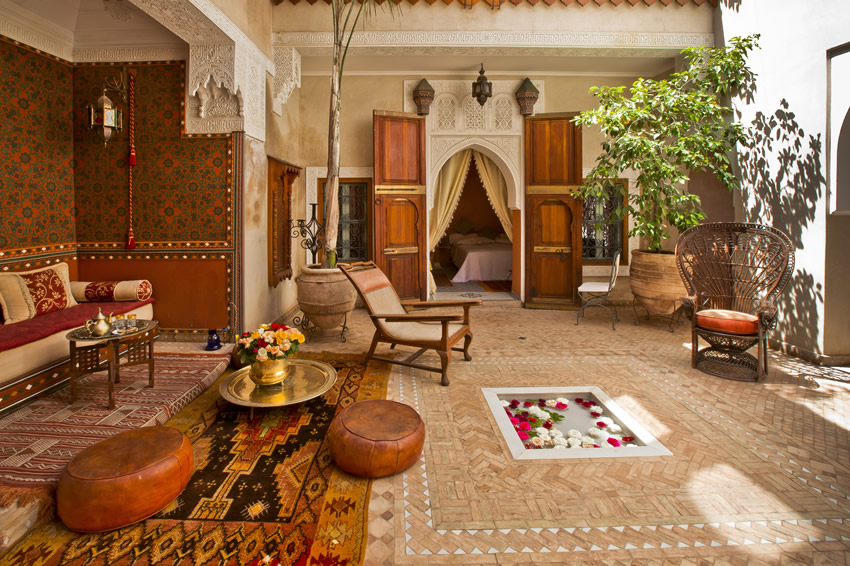 riad monika riad monika in marrakech instant booking. Black Bedroom Furniture Sets. Home Design Ideas